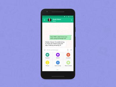 Exchange Messenger ui ux design android ios app messenger