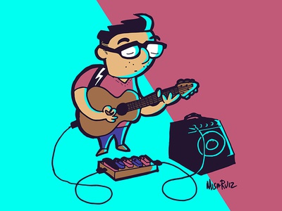Misa Guitar acoustic guitar acoustic amp scan sketch illustrator guitar pedals pedals cartoon guitar