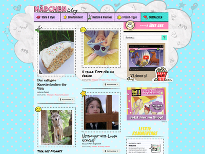 Mädchenblog  girl design ui children web design cute mädchen girls blog