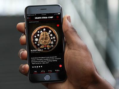 Star Wars recipe app app cooking concept recipe starwars