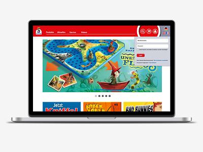 Schmidt Spiele  laptop spiele schmidt ux ui design web responsive