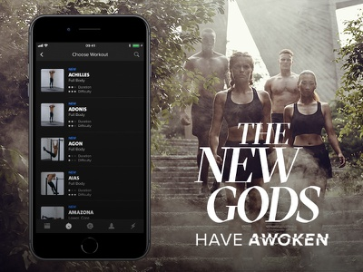 The New Gods have awoken iphone app gods sports list fitness new gods freeletics
