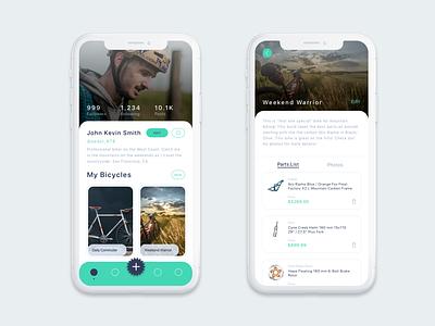 Bike Journal Concept ui mobile app mobile ui bicycle bike