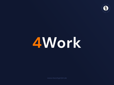 4Work • Logotype [2019] design digital ui ux color minimal clean typography branding logo