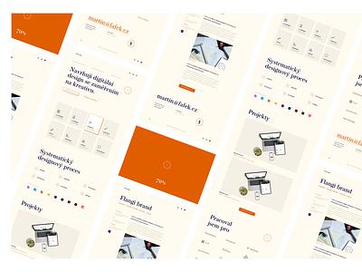 Martin Fafek • Portfolio Website [2021] casestudy case webdesign web designer website portfolio logotype minimal clean typography digital color ux ui design