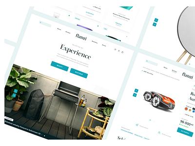 Flangi • UX & UI Design real designer ecommerce design nav controls buttons cta detail page homepage ecommerce vector logo branding minimal clean typography ui digital ux design