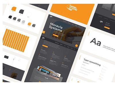 Moravia Systems • Website Redesign [2019] ui kit ui design ux design agency visual draft idea creative creativity user interface user experiece logo clean typography color ui ux digital design