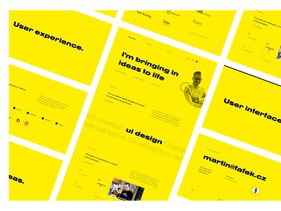 Martin Fafek • Portfolio Website Concept [2020] font grid layout experiece interface user portfolio personal solution creative pixel yellow branding logo typography color ui ux digital design
