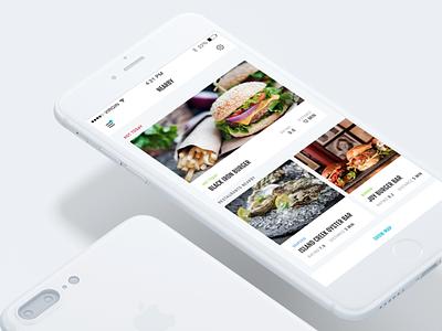 Just Another FoodApp Concept reservation burger restaurants iphone ux ui food