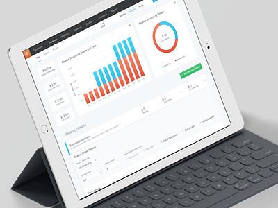 Revenues Dashboard for iPad dashboard finance interface startup userexperience userinterface ipad ui ux