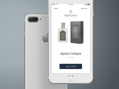 Truefitt And Hill - Product Detail eshop minimal truefitthill ui ux mobile cosmetics ecommerce