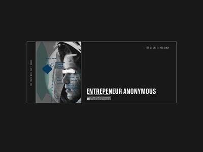 Entrepreneur Anonymous Concept