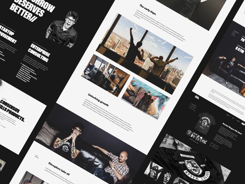 Announcing an Entrepreneur Portfolio rw brand design logo simple black connected iot internet of things entrepreneur