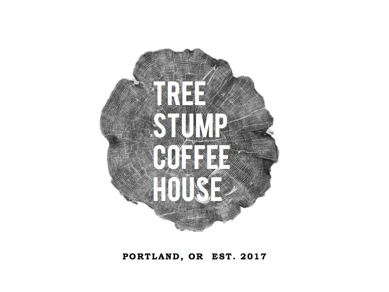 Tree Stump Coffee House branding coffee