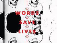 words. save. lives.