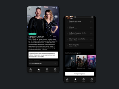 Mobile App for Concerts