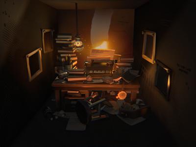 Deadends Triptych [2/3] - shot #01 low poly videogame particles ar design vr illustration environments blender 3d character design