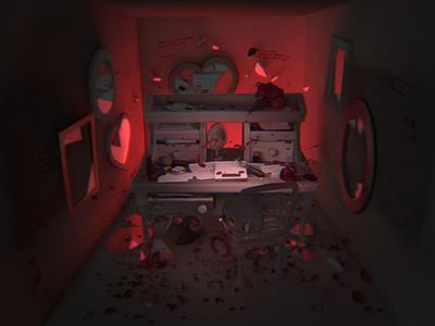 Deadends Triptych [3/3] - shot #01 low poly particles animation illustration ar 3d isometric videogame c4d blender triptych