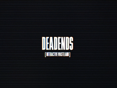 Deadends title screen three.js illustration animation particles 3d vr low poly blender character design