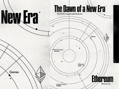 Ethereum Campaign 1/2 ethereum photoshop poster modern cryptocurrency blockchain 1960s design illustration