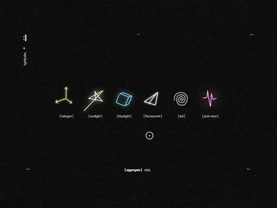 lightbulbs - ui screenshot #01 ui uix lighting glow svg animation ui design web design svg light videogame vr illustration
