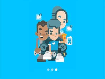 Onboarding guy #3 - it's HangTime sneakers bored guy friends social network iphone character design character hangout hanging out onboarding