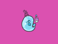 Stickers round 3: Party narwhal