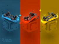 GameObjects: Skateboard triptych