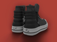 High poly shoe (back)