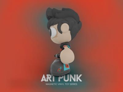 Vinyl Toy (side view): Art Punk