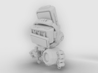 Ancient Bot - white render #02
