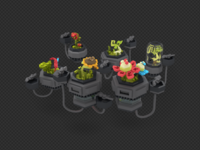 3D floating plants