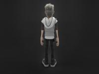 Punk Teen Character: Maximilian (back)
