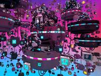 Lowpoly Universe - render #03