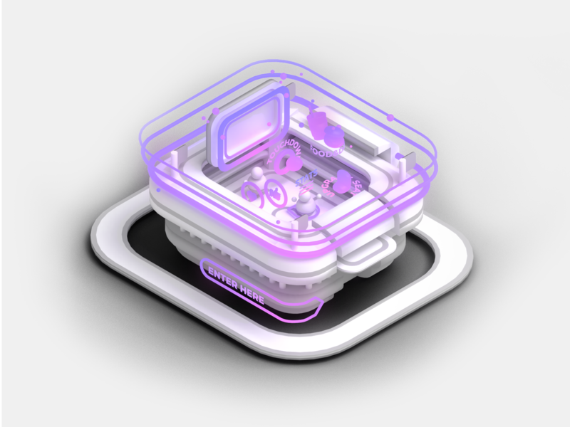 Augmented Reality sketch augmentedreality cinema sports stadium ar gradient ios technology animation particles illustration vr low poly isometric videogame c4d blender 3d