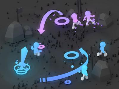 Glowing battlefield mockup