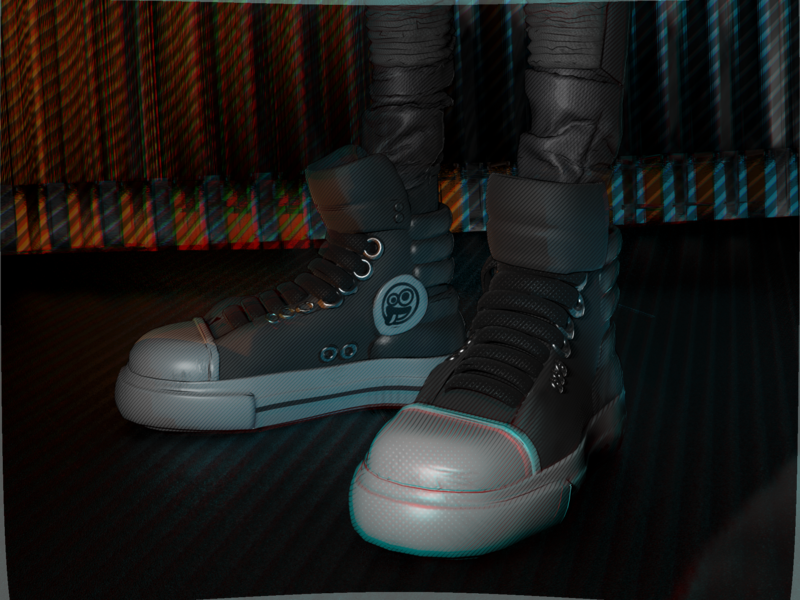 Comic Book Max (closeup #02) game art comic book marvel spiderverse converse shoes illustration vr low poly isometric videogame c4d blender character design 3d