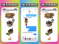CatsCubed iMessage stickers
