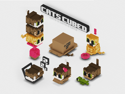 CatsCubed voxel cats