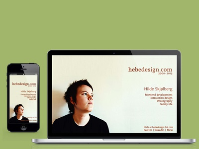 hebedesign.com 2015 personal homepage placeholder photo