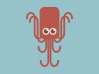 The friendly red octopus
