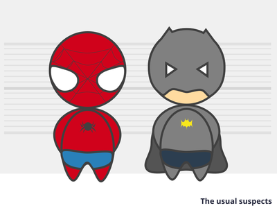 The usual suspects batman spiderman superhero