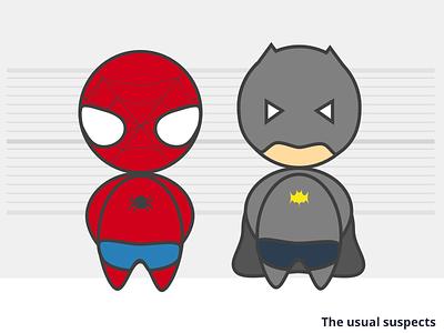 The usual suspects batman spiderman superhero