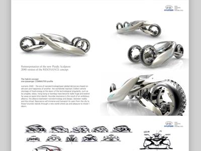 3 Wheel concept car