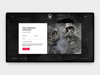 FPS Game A.V.A: DOG TAG Web UI/UX Design