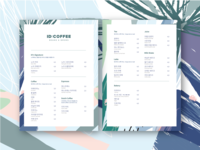 ID: COFFEE CAFE Branding- menu design