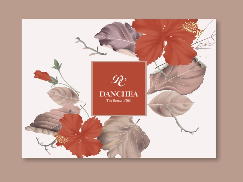 Cosmetic packaging typography red pattern package luxury gold flower chinese china cosmetic logo packaging cosmetic