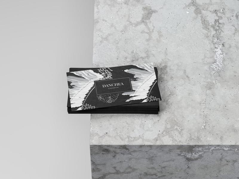 DANCHEA Cosmetic Packaging design namecard brand identity brand package ui typography design illustration logo branding