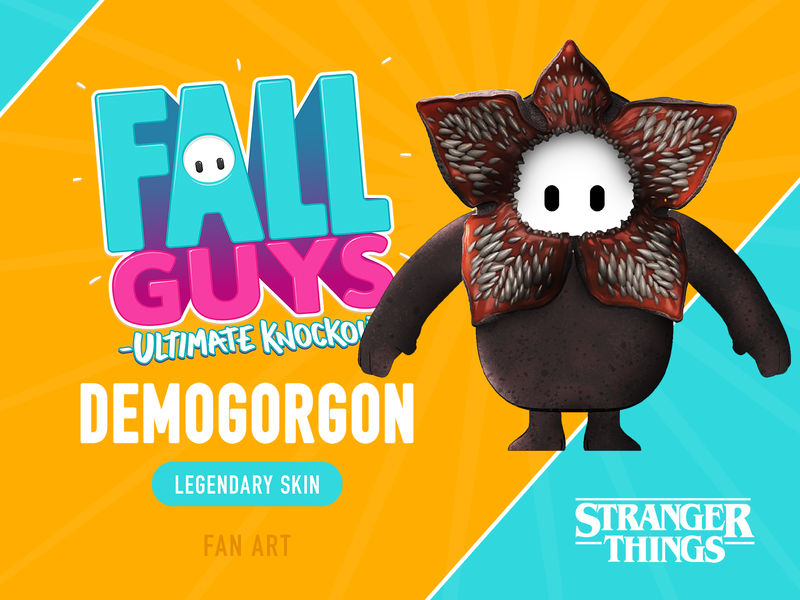 Fall Guys - Demogorgon Skin Concept (FAN ART) skin fan art concept fall guys fallguys demogorgon