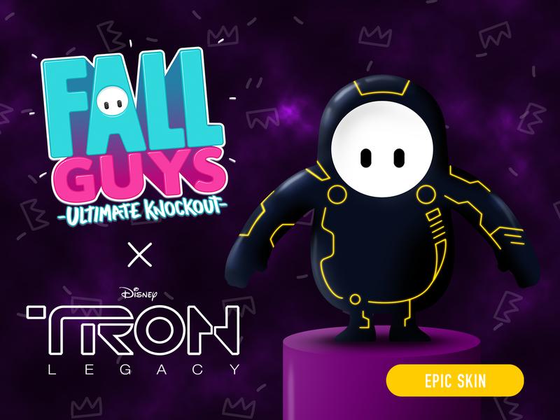 Fall Guys - TRON Skin Concept (FAN ART) fanart fan tron concept skin fallguys